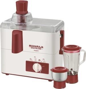 Maharaja Whiteline JX-100 450 W Juicer Mixer Grinder White, (2 Jars)