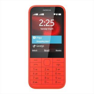 Nokia 225 (Bright Red Mobile) Mobile