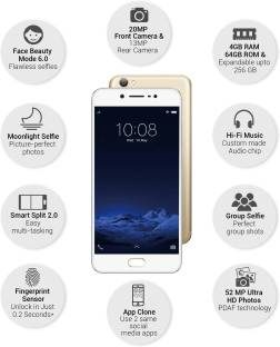 Vivo V5s (Vivo 1713) 64GB Crown Gold Mobile