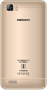 Karbonn A40 Indian (8 GB, 1 GB RAM) Champagne Mobile