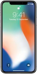 Apple iPhone X (Apple MQA62HN/A) 64GB Silver Mobile
