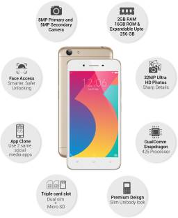 Vivo Y53I (Vivo 1606) 16GB Crown Gold Mobile