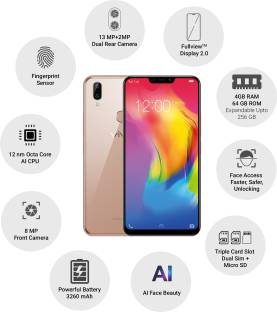 Vivo Y83 Pro (Vivo 1726/1803) 64GB 4GB RAM Gold Mobile