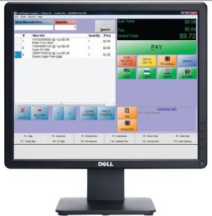Dell E1715S 17 inch LED Backlit LCD Black Monitor