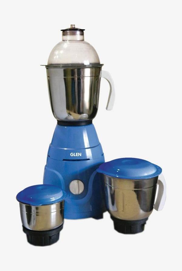 Glen GL 4021 550 Watts Mixer Grinder Blue, (3 Jars)