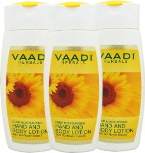 Vaadi Herbals Value Pack Of 3 Hand and Body Lotion With Sunflower Extract