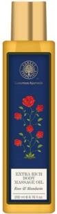 Forest Essentials Rose And Mandarin Extra Rich Body Massage Oil (200ml)