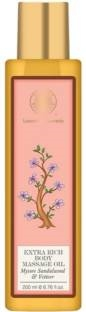 Forest Essentials Mysore Sandalwood And Vetiver Extra Rich Body Massage Oil (200ml)