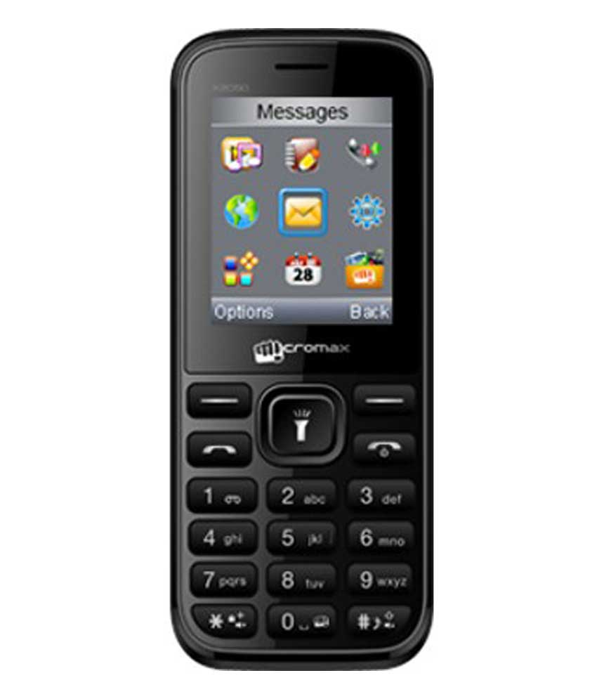 Micromax X2050 128MB Black Mobile
