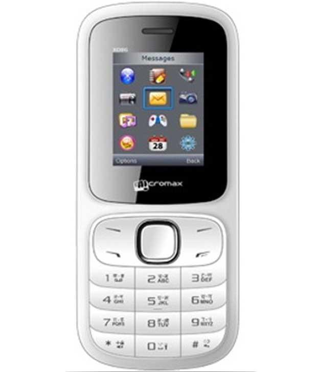 Micromax X086 White Mobile