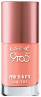 Lakme 9 to 5 Primer Matte Nail Color, Apricot