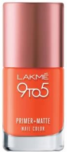 Lakme 9 to 5 Primer Matte Nail Color, Coral