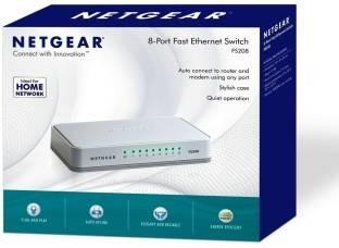 Netgear 8-Port Fast Ethernet FS208 Unmanaged Network Switch