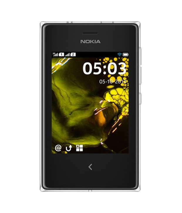 Nokia Asha 502 White Mobile