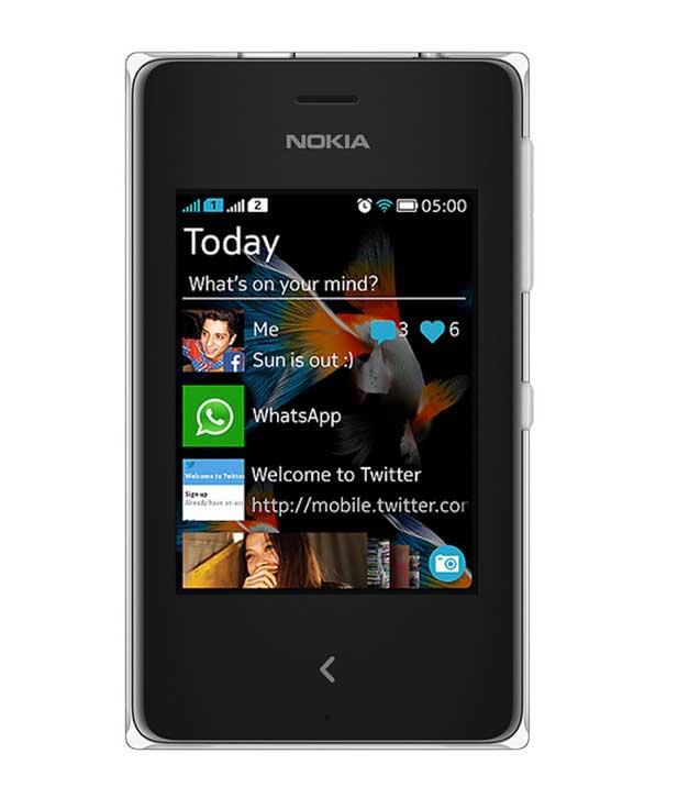Nokia Asha 500 White Mobile