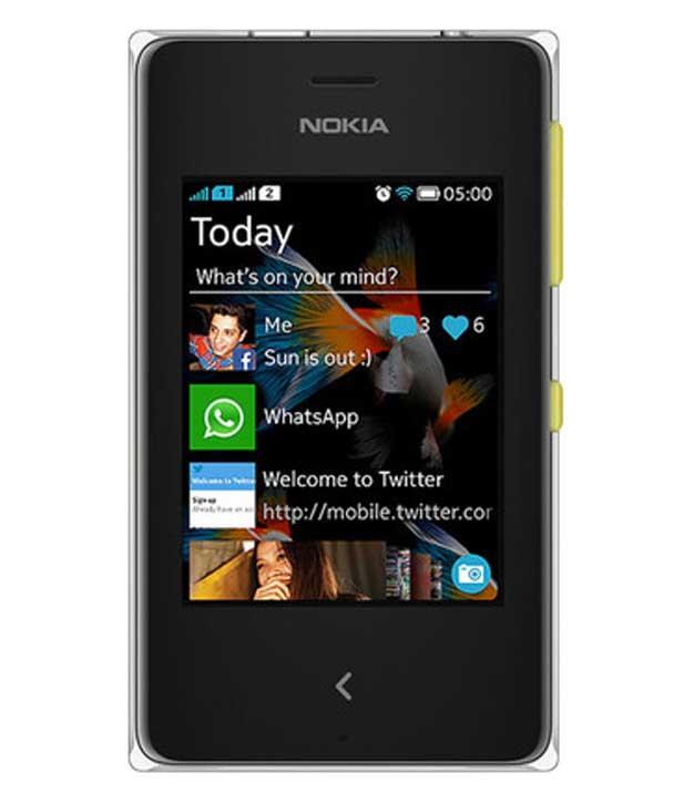 Nokia Asha 500 Yellow Mobile