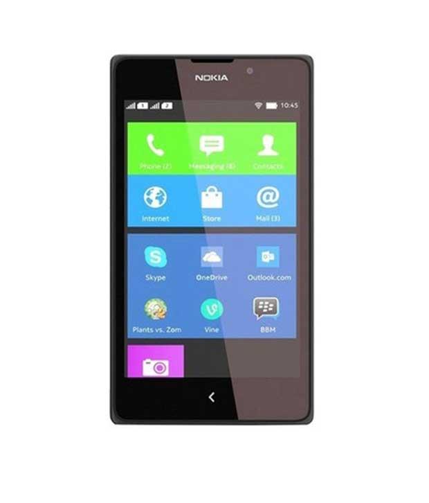 Nokia XL 4 GB Black Mobile