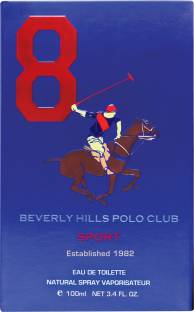 Beverly Hills Polo Club Sport No 8 EDT For Men- 100 ml