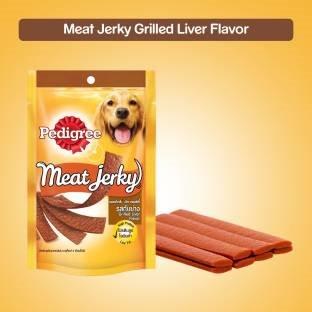 Pedigree Meat Jerky Grilled Liver Dog Food (80 gm, Pack of 12)