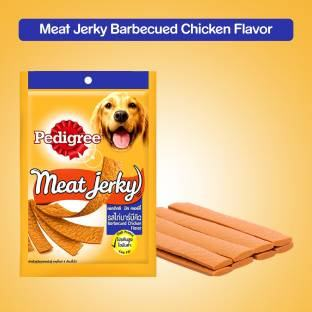 Pedigree Meat Jerky BBQ Chicken Dog Food (80 gm, Pack of 12)