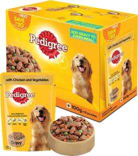 Pedigree Chicken And Vegetables Adult Dog Food (100gm, Pack of 12)