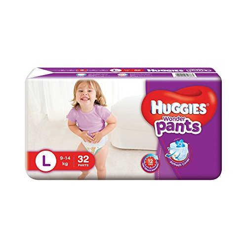 Huggies Wonder Pants Style L Diapers (32 Pieces)