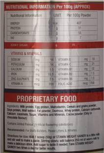 Stamin Nutrition Weight Gainer (1Kg, Chocolate)