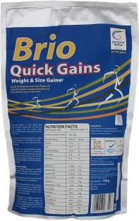 Brio Quick Gains Size Gainer (750gm)