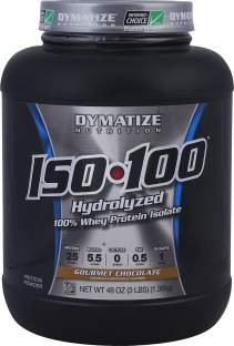 Dymatize Nutrition ISO 100% Hydrolyzed Whey Protein Isolate (1.36Kg / 3lbs, Chocolate)
