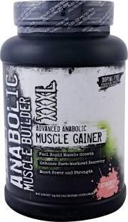 SSN Anabolic Muscle Builder XXXL Mass Gainer (1Kg, Strawberry)