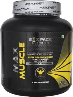 Six Pack Nutrition Max Muscle Protein Supplement (2Kg, Chocolate)
