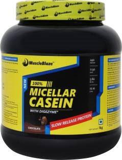 MuscleBlaze 100% Micellar Casein Protein (1Kg, Chocolate)