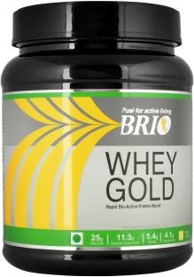 Brio Whey Gold Protein (500gm, Strawberry)