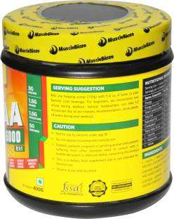 MuscleBlaze BCAA 6000 Body Building Supplement (400gm / 0.89lbs, orange)