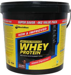 MuscleBlaze Whey Protein (4Kg / 8.82lbs, Chocolate)