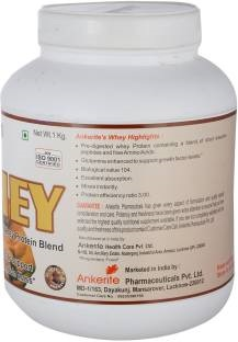 Ankerite Whey Protein Natural Powder (1Kg / 2.2lbs, Chocolate)