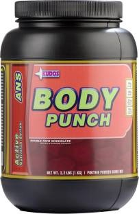 Kudos Body Punch Weight Gainer (1Kg, Chocolate)