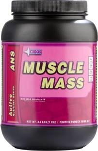Kudos Muscle Mass Weight Gainer (1Kg, Chocolate)