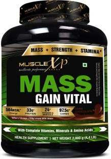 MuscleXP Mass Gain Vital (2Kg / 4.41lbs, Chocolate)