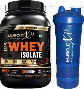 MuscleXP 100% Whey Isolate Protein (1Kg / 2.2lbs, Chocolate)