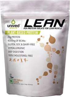 Unived Lean Pea Protein Isolate Powder (1.713Kg / 3.78lbs, Vanilla)