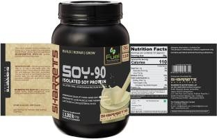 Sharrets Nutritions Soy-90 Isolated Soy Protein (1Kg / 2.2lbs, Vanilla)
