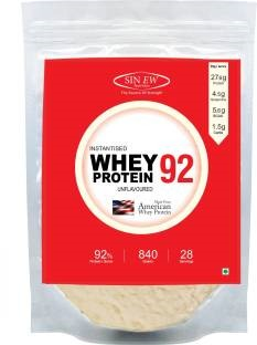 Sinew Nutrition Instantised Whey Protein 92 (840gm / 1.86lbs, Unflavoured)