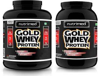 Nutrimed Combo of Gold Whey Protein (2.26Kg And 0.9Kg, Kesar Pista Badam)