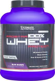 Ultimate Nutrition Prostar 100% Whey Protein (2.39Kg, Rum Raisin)