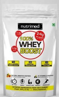 Nutrimed 100% Whey Boost Whey Protein with Enzymes, Beta Alanine, Creatine, Taurine (908gm, Chocolate)