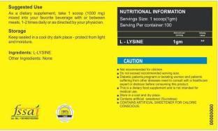 Healthvit L-Lysine Powder 0.23Lbs