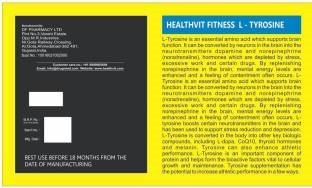 Healthvit L-Tyrosine Powder 0.23lbs
