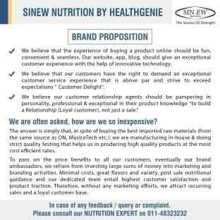 Sinew Nutrition Instantised Whey Protein 80% Concentrate (360gm)