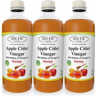 Sinew Apple Cider Vinegar With Honey (500 ml, Pack of 3)